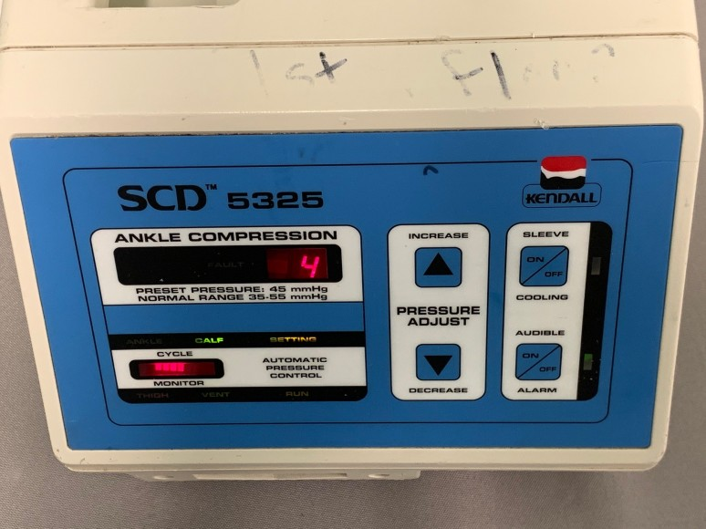QTY: 2 - KENDALL 5325 Ankle Compression SCD UNIT