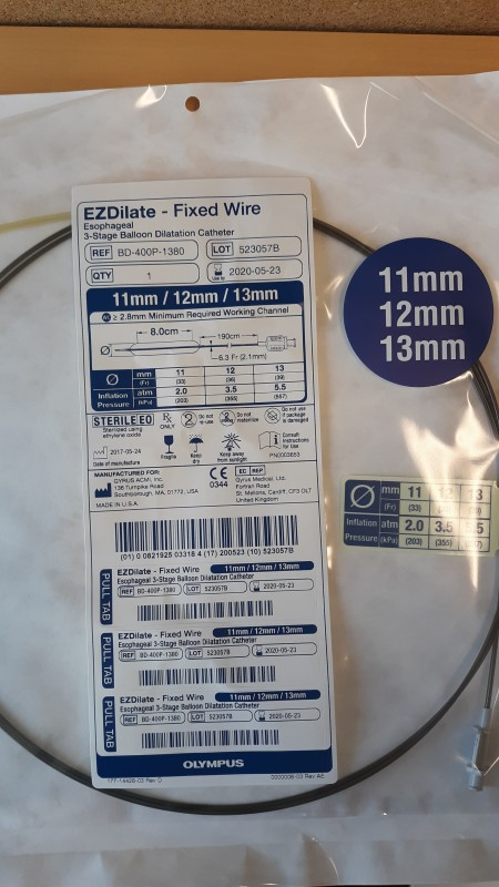 OLYMPUS 11mm REF 1175-10 Olympus EZDilate 3-Stage Dilation Catheter